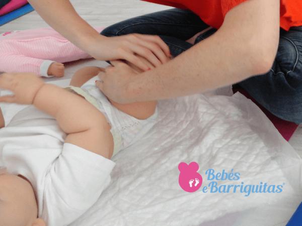 massagem do bebé