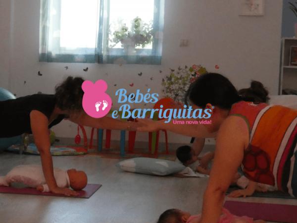 ginástica com bebés