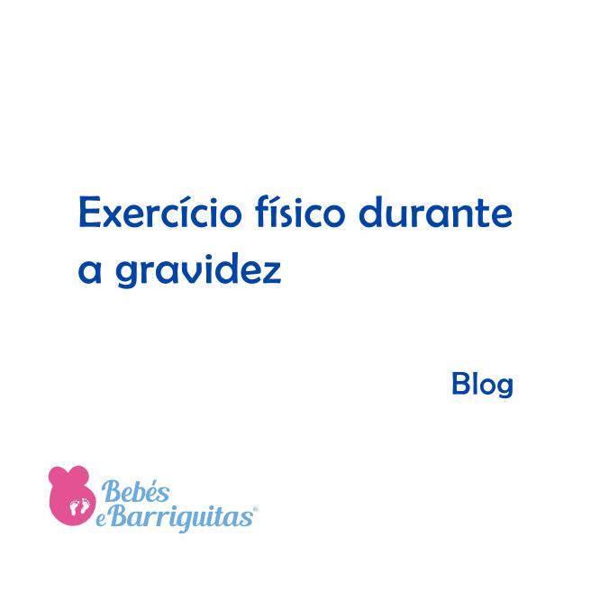 exercício físico durante a gravidez